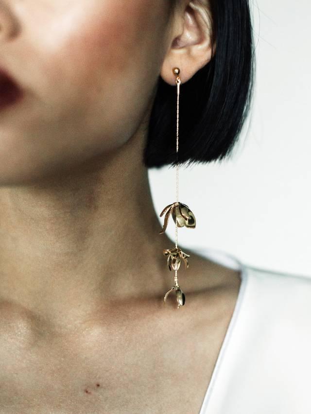 a.b.ellie Magnolia Strand Earrings マグノリアストランドピアス